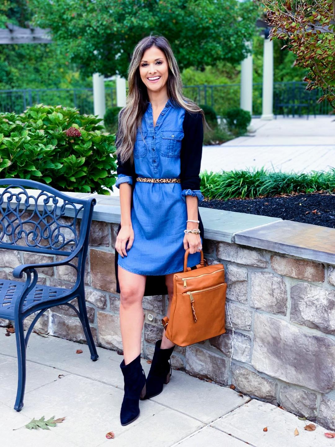 "blackbooties"" /> I'm all about having a good chambray dress in the closet, especially when there are so many different ways you can wear it. Here are five ideas on how to style one for fall:</p></div><!-- .blog-entry-summary --><div class="